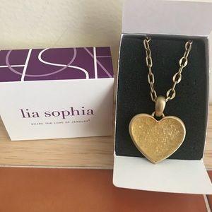 """Crush, 30-33"""" Lia Sophia Matte Gold Necklace"""
